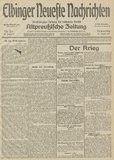Elbinger Neueste Nachrichten, Nr. 234 Donnerstag 27 August 1914 66. Jahrgang