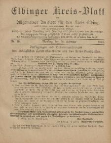 Kreis-Blatt des Königlich Preußischen Landraths-Amtes zu Elbing, Nr. 16 Dienstag 26 Februar 1895