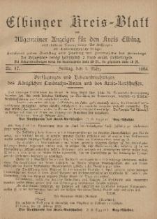 Kreis-Blatt des Königlich Preußischen Landraths-Amtes zu Elbing, Nr. 17 Freitag 1 März 1895
