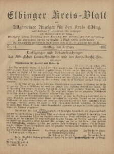 Kreis-Blatt des Königlich Preußischen Landraths-Amtes zu Elbing, Nr. 18 Dienstag 5 März 1895