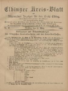 Kreis-Blatt des Königlich Preußischen Landraths-Amtes zu Elbing, Nr. 20 Dienstag 12 März 1895