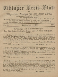 Kreis-Blatt des Königlich Preußischen Landraths-Amtes zu Elbing, Nr. 21 Freitag 15 März 1895