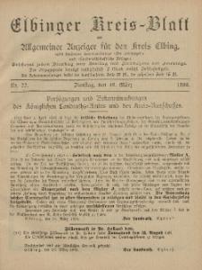 Kreis-Blatt des Königlich Preußischen Landraths-Amtes zu Elbing, Nr. 22 Dienstag 19 März 1895
