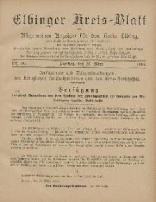 Kreis-Blatt des Königlich Preußischen Landraths-Amtes zu Elbing, Nr. 24 Dienstag 26 März 1895
