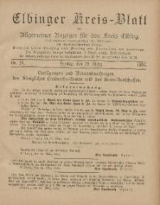 Kreis-Blatt des Königlich Preußischen Landraths-Amtes zu Elbing, Nr. 25 Freitag 29 März 1895