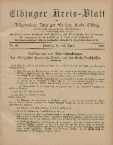 Kreis-Blatt des Königlich Preußischen Landraths-Amtes zu Elbing, Nr. 30 Dienstag 16 April 1895