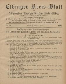 Kreis-Blatt des Königlich Preußischen Landraths-Amtes zu Elbing, Nr. 35 Freitag 3 Mai 1895