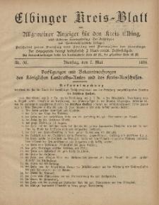 Kreis-Blatt des Königlich Preußischen Landraths-Amtes zu Elbing, Nr. 36 Dienstag 7 Mai 1895