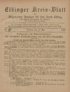 Kreis-Blatt des Königlich Preußischen Landraths-Amtes zu Elbing, Nr. 37 Freitag 10 Mai 1895