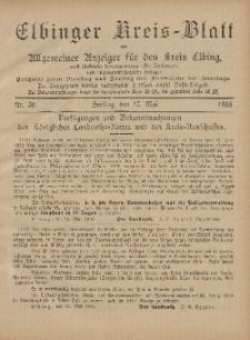 Kreis-Blatt des Königlich Preußischen Landraths-Amtes zu Elbing, Nr. 39 Freitag 17 Mai 1895