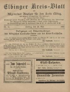 Kreis-Blatt des Königlich Preußischen Landraths-Amtes zu Elbing, Nr. 41 Freitag 24 Mai 1895
