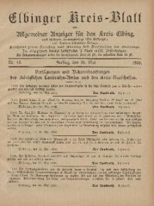 Kreis-Blatt des Königlich Preußischen Landraths-Amtes zu Elbing, Nr. 43 Freitag 31 Mai 1895
