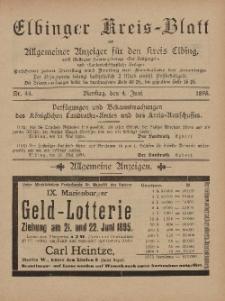 Kreis-Blatt des Königlich Preußischen Landraths-Amtes zu Elbing, Nr. 44 Dienstag 4 Juni 1895