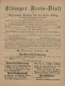 Kreis-Blatt des Königlich Preußischen Landraths-Amtes zu Elbing, Nr. 47 Freitag 14 Juni 1895