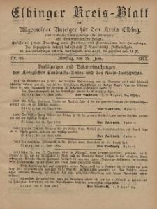 Kreis-Blatt des Königlich Preußischen Landraths-Amtes zu Elbing, Nr. 48 Dienstag 18 Juni 1895