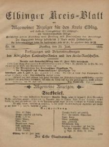 Kreis-Blatt des Königlich Preußischen Landraths-Amtes zu Elbing, Nr. 50 Dienstag 25 Juni 1895