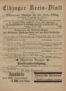 Kreis-Blatt des Königlich Preußischen Landraths-Amtes zu Elbing, Nr. 52 Dienstag 2 Juli 1895