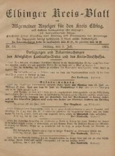 Kreis-Blatt des Königlich Preußischen Landraths-Amtes zu Elbing, Nr. 53 Freitag 5 Juli 1895