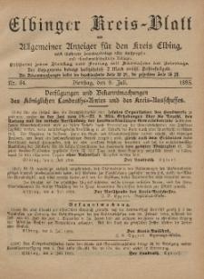Kreis-Blatt des Königlich Preußischen Landraths-Amtes zu Elbing, Nr. 54 Dienstag 9 Juli 1895