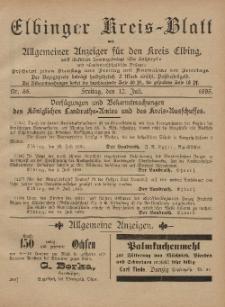 Kreis-Blatt des Königlich Preußischen Landraths-Amtes zu Elbing, Nr. 55 Freitag 12 Juli 1895