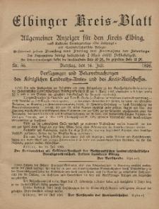 Kreis-Blatt des Königlich Preußischen Landraths-Amtes zu Elbing, Nr. 56 Dienstag 16 Juli 1895