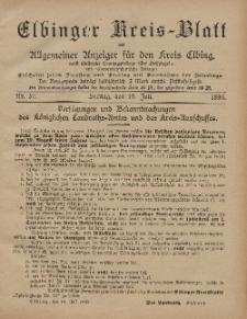 Kreis-Blatt des Königlich Preußischen Landraths-Amtes zu Elbing, Nr. 57 Freitag 19 Juli 1895