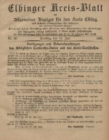 Kreis-Blatt des Königlich Preußischen Landraths-Amtes zu Elbing, Nr. 58 Dienstag 23 Juli 1895