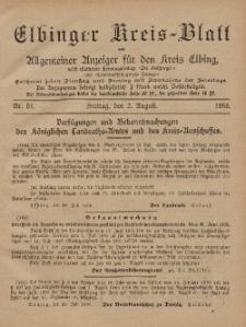 Kreis-Blatt des Königlich Preußischen Landraths-Amtes zu Elbing, Nr. 61 Freitag 2 August 1895