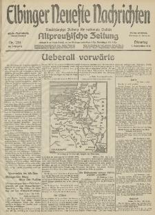 Elbinger Neueste Nachrichten, Nr. 239 Dienstag 1 September 1914 66. Jahrgang
