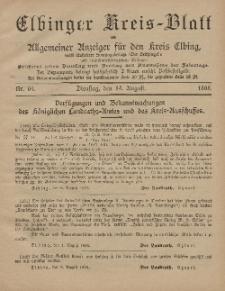 Kreis-Blatt des Königlich Preußischen Landraths-Amtes zu Elbing, Nr. 64 Dienstag 13 August 1895
