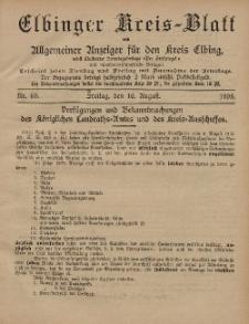 Kreis-Blatt des Königlich Preußischen Landraths-Amtes zu Elbing, Nr. 65 Freitag 16 August 1895