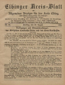 Kreis-Blatt des Königlich Preußischen Landraths-Amtes zu Elbing, Nr. 66 Dienstag 20 August 1895