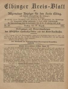 Kreis-Blatt des Königlich Preußischen Landraths-Amtes zu Elbing, Nr. 69 Freitag 30 August 1895