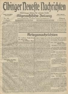 Elbinger Neueste Nachrichten, Nr. 240 Mittwoch 2 September 1914 66. Jahrgang