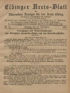 Kreis-Blatt des Königlich Preußischen Landraths-Amtes zu Elbing, Nr. 76 Dienstag 24 September 1895