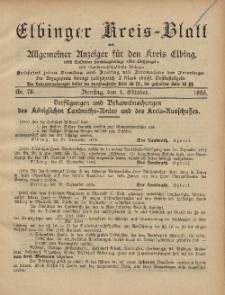 Kreis-Blatt des Königlich Preußischen Landraths-Amtes zu Elbing, Nr. 78 Dienstag 1 Oktober 1895