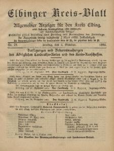 Kreis-Blatt des Königlich Preußischen Landraths-Amtes zu Elbing, Nr. 79 Freitag 4 Oktober 1895