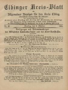Kreis-Blatt des Königlich Preußischen Landraths-Amtes zu Elbing, Nr. 80 Dienstag 8 Oktober 1895