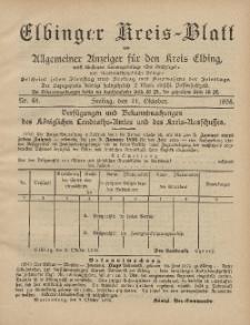 Kreis-Blatt des Königlich Preußischen Landraths-Amtes zu Elbing, Nr. 81 Freitag 11 Oktober 1895