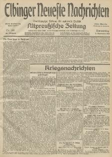 Elbinger Neueste Nachrichten, Nr. 241 Donnerstag 3 September 1914 66. Jahrgang