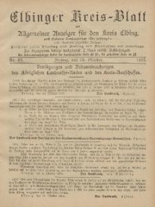 Kreis-Blatt des Königlich Preußischen Landraths-Amtes zu Elbing, Nr. 83 Freitag 18 Oktober 1895