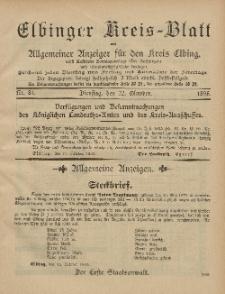 Kreis-Blatt des Königlich Preußischen Landraths-Amtes zu Elbing, Nr. 84 Dienstag 22 Oktober 1895
