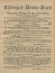 Kreis-Blatt des Königlich Preußischen Landraths-Amtes zu Elbing, Nr. 85 Freitag 25 Oktober 1895