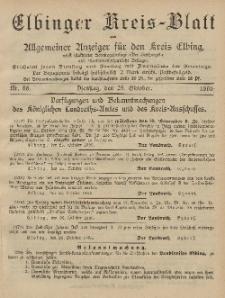 Kreis-Blatt des Königlich Preußischen Landraths-Amtes zu Elbing, Nr. 86 Dienstag 29 Oktober 1895