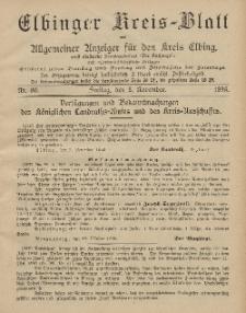 Kreis-Blatt des Königlich Preußischen Landraths-Amtes zu Elbing, Nr. 89 Freitag 8 November 1895