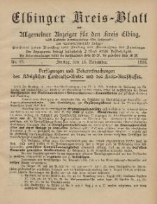 Kreis-Blatt des Königlich Preußischen Landraths-Amtes zu Elbing, Nr. 91 Freitag 15 November 1895