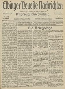 Elbinger Neueste Nachrichten, Nr. 242 Freitag 4 September 1914 66. Jahrgang