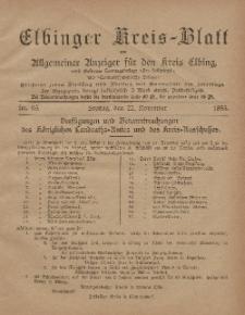 Kreis-Blatt des Königlich Preußischen Landraths-Amtes zu Elbing, Nr. 93 Freitag 22 November 1895