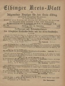 Kreis-Blatt des Königlich Preußischen Landraths-Amtes zu Elbing, Nr. 94 Dienstag 26 November 1895