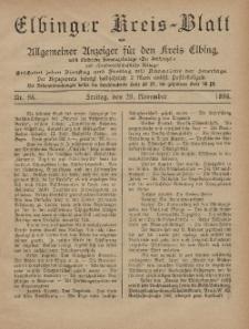 Kreis-Blatt des Königlich Preußischen Landraths-Amtes zu Elbing, Nr. 95 Freitag 29 November 1895